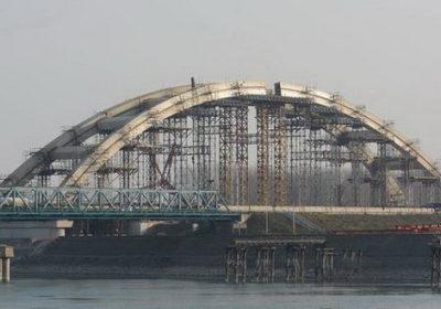 Pogled na novi Zezeljev most u Novom Sadu, gde su u toku radovi na izgradnji. (BETAPHOTO/DRAGAN GOJIC/AV)