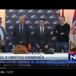 Заједничка конференција за штампу поводом убиства Оливера Ивановића