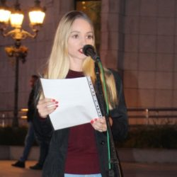 Омладина Преокрета на  протесту у Новом Саду