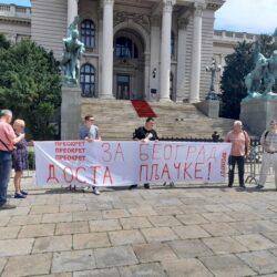 """Транспаренти """"Преокрет за Београд – доста пљачке"""" на 12 ударних локација у граду"""